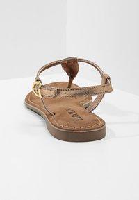 Lazamani - T-bar sandals - copper - 5