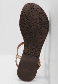 Lazamani - T-bar sandals - copper - 6