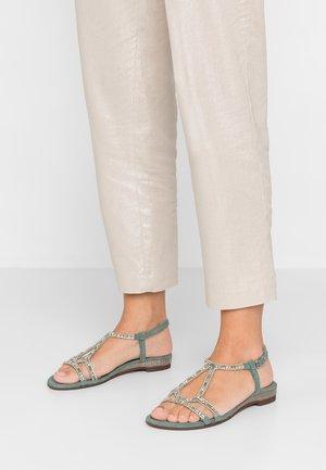 Sandały - sage
