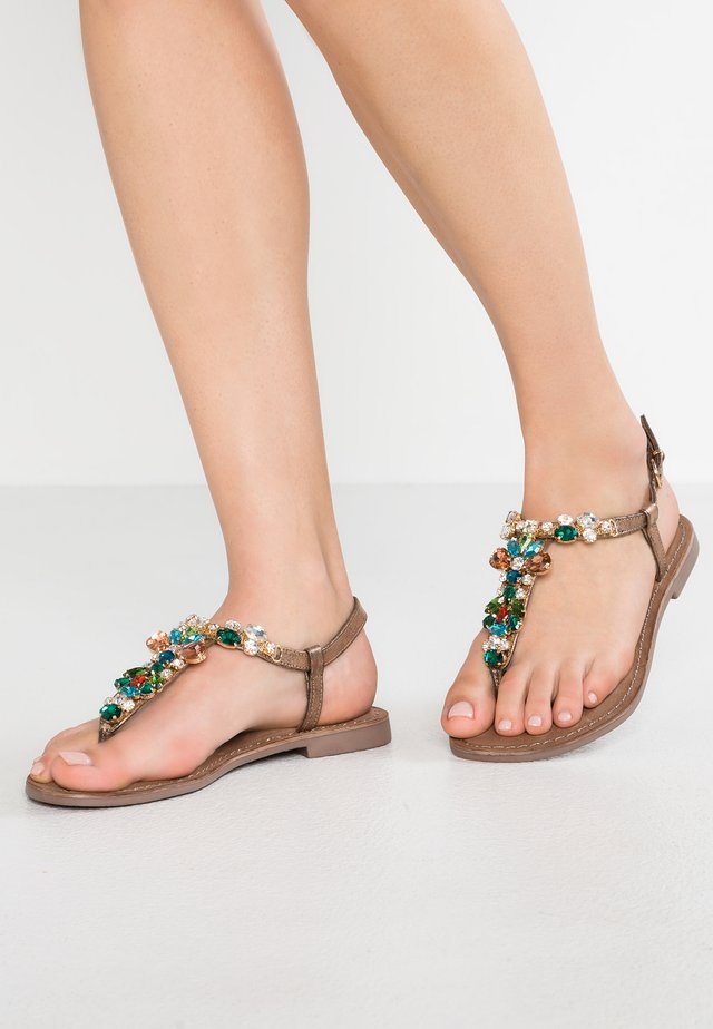 T-bar sandals - multicolor