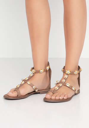 T-bar sandals - taupe