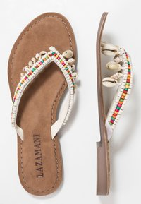 Lazamani - T-bar sandals - white - 3