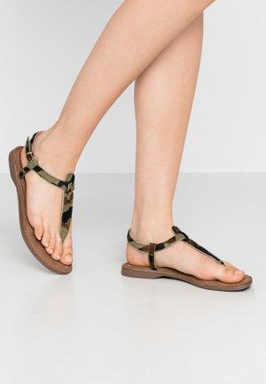 Sandály s odděleným palcem - army