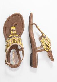 Lazamani - T-bar sandals - yellow - 3