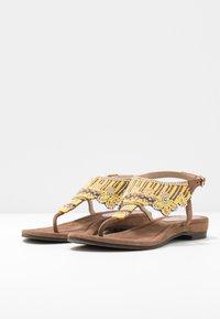 Lazamani - T-bar sandals - yellow - 4