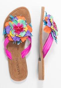Lazamani - T-bar sandals - fuxia - 3