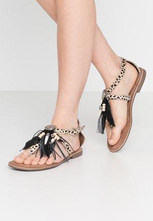 T-bar sandals - dalmatian