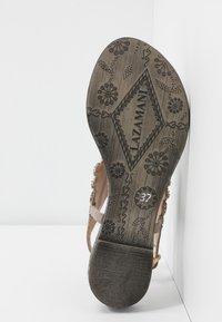 Lazamani - Sandály s odděleným palcem - porcini - 6