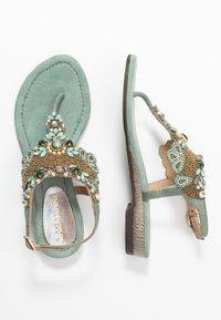 Lazamani - Sandály s odděleným palcem - sage - 3