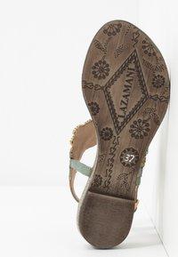 Lazamani - Sandály s odděleným palcem - sage - 6