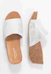 Lazamani - Pantofle na podpatku - bianco - 3