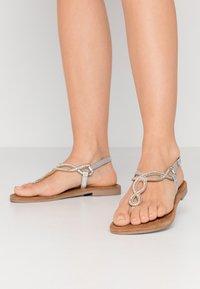 Lazamani - T-bar sandals - silver - 0
