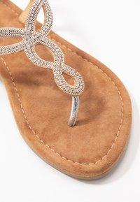 Lazamani - T-bar sandals - silver - 2