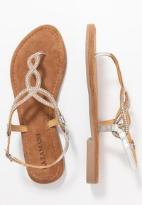 Lazamani - T-bar sandals - silver - 3