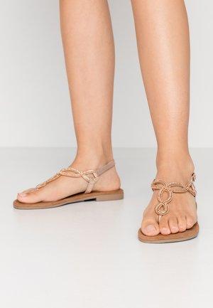 T-bar sandals - peach