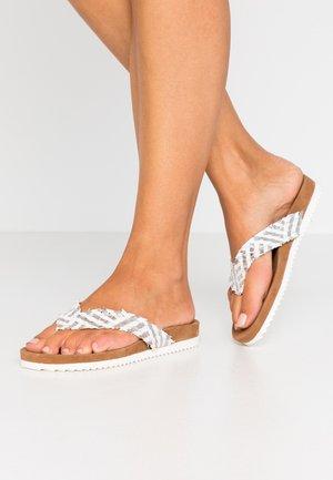 Sandalias de dedo - white/silver