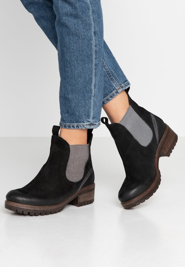 Ankle boots - nero/grey