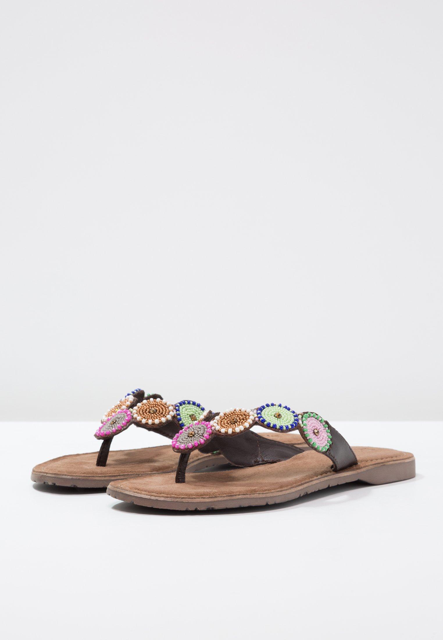 Lazamani T-bar sandals - brown