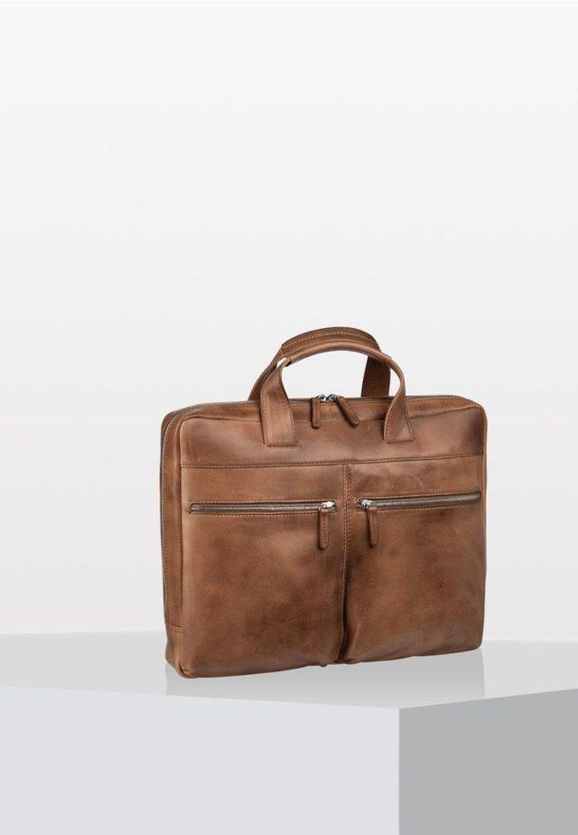 AMSTERDAM  - Briefcase - cognac
