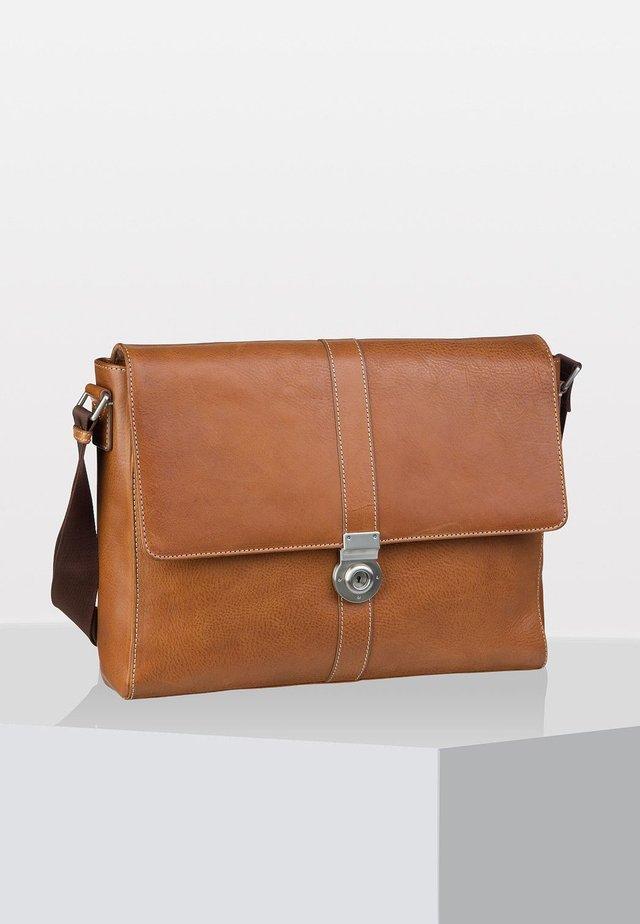 BERGAMO - Briefcase - light brown