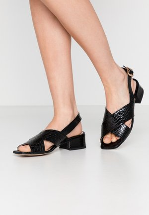 COME & GO - Sandals - black
