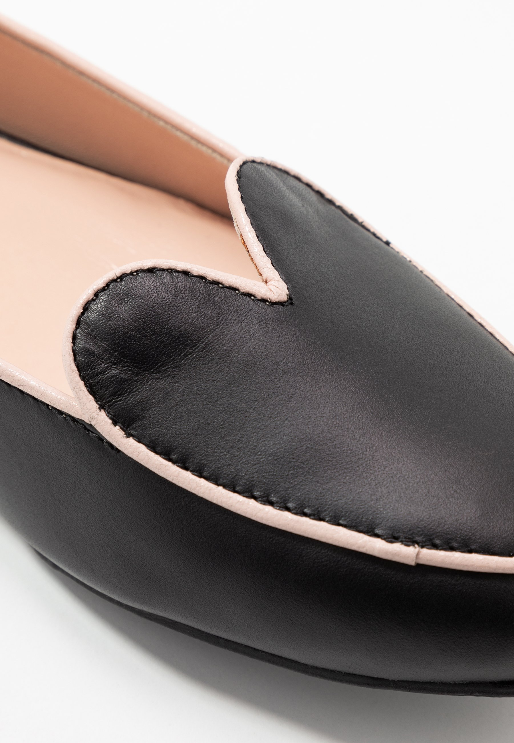 L37 WIDE FIT HEARTBEAT - Loafers - black/pink
