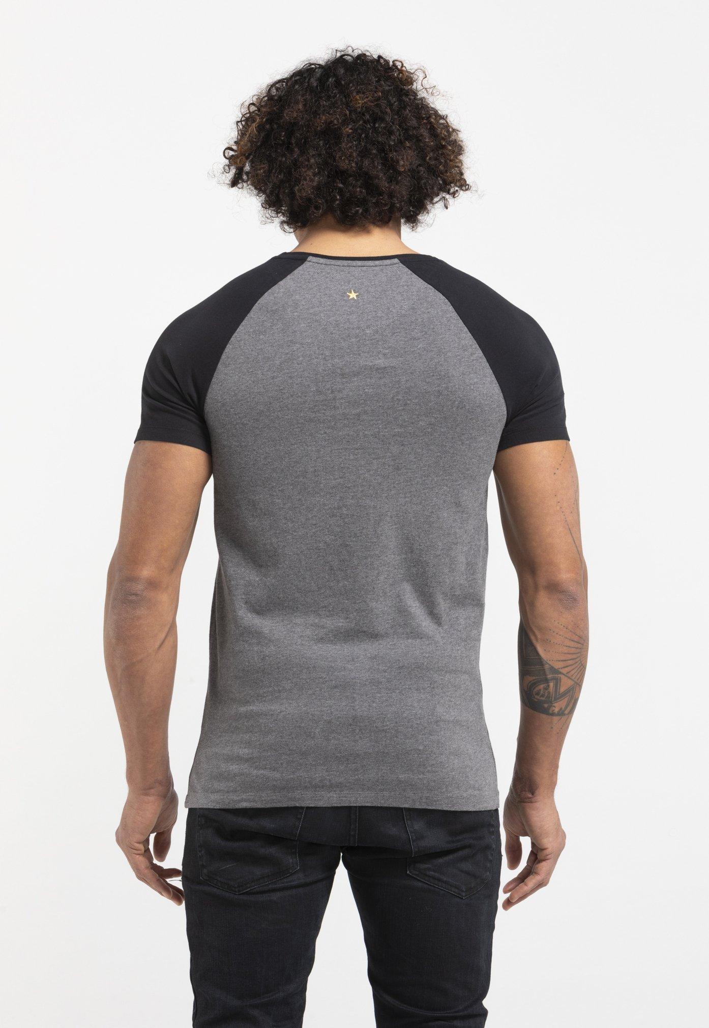 Liger LIMITED TO 360 PIECES - LUUK BODE - FREE WORK - T-shirt imprimé - dark heather grey melange