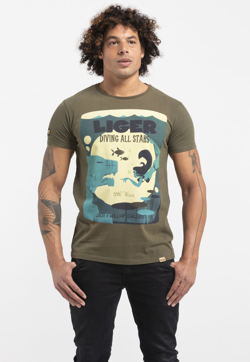 Liger - LIMITED TO 360 PIECES - WILLIAM DALEBOUT - Print T-shirt - green