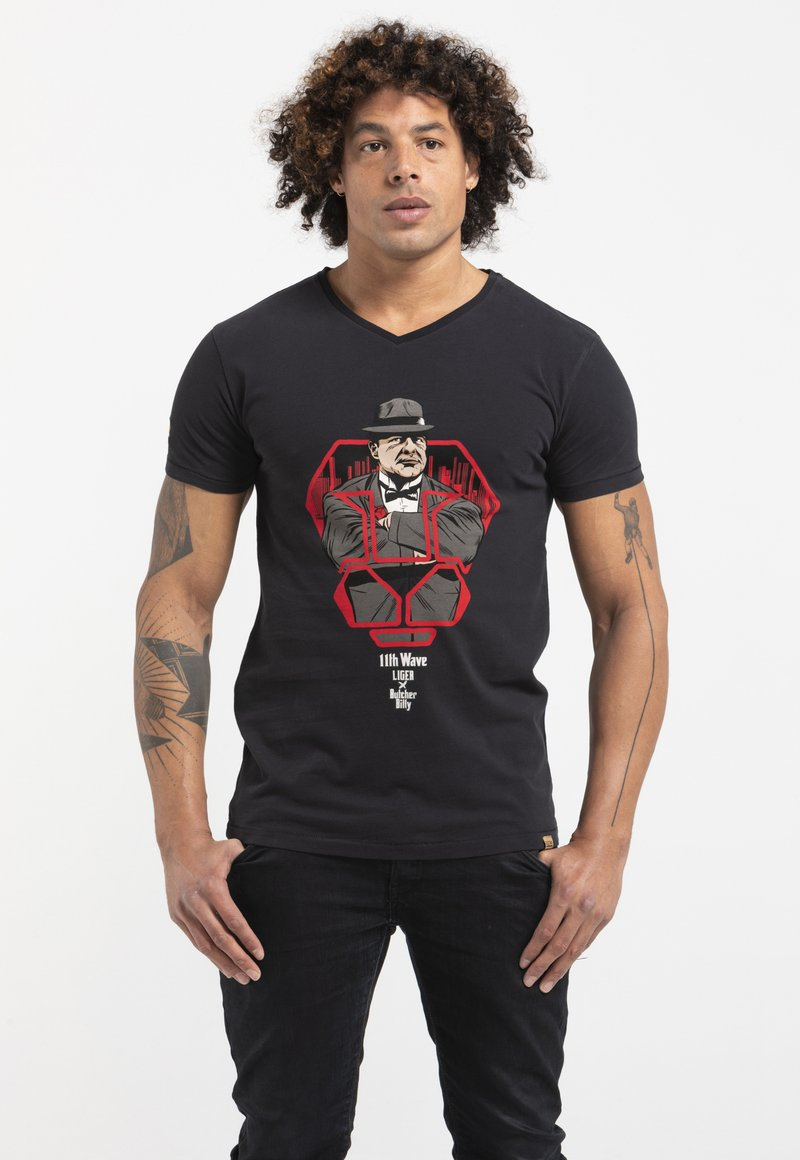 Liger - LIMITED TO 360 PIECES - BUTCHER BILLY - MOBSTER - Print T-shirt - black