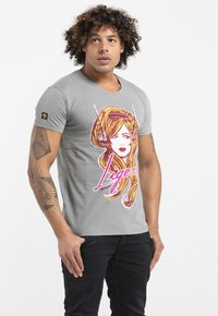 Liger - LIMITED TO 360 PIECES - GILLES VRANCKX - MUSIC - Print T-shirt - lead grey - 3