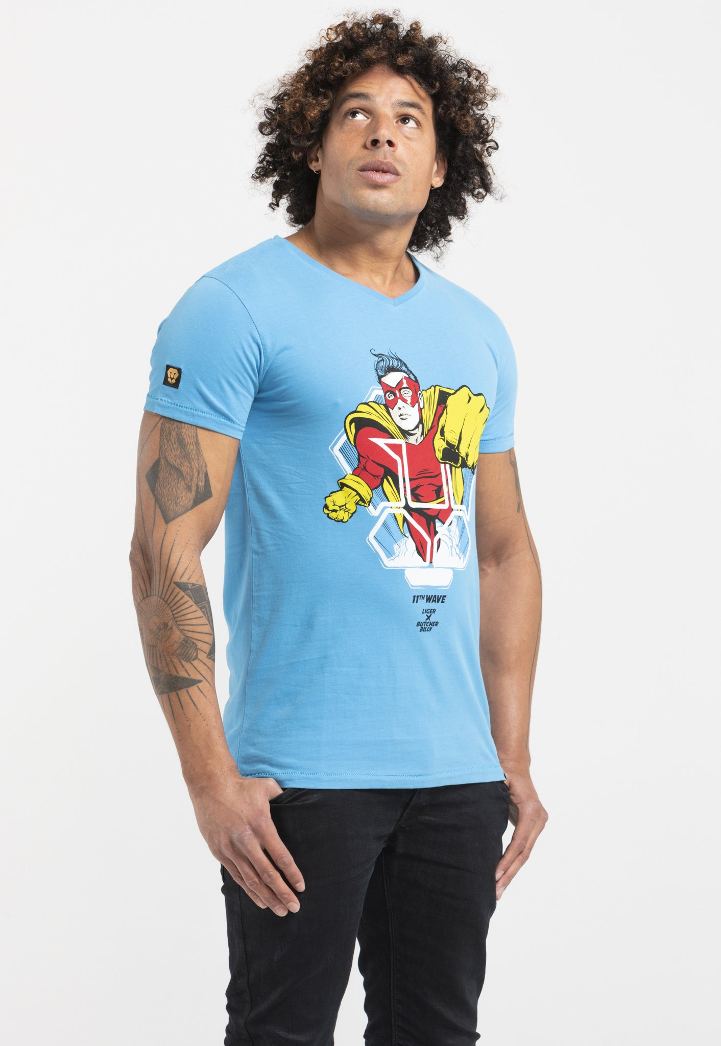 Liger Limited to 360 pieces - Butcher Billy - Hero - Print T-shirt - royal blue