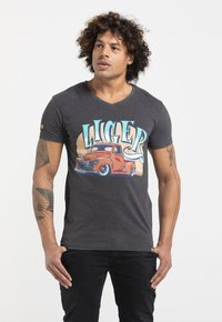 Liger - LIMITED TO 360 PIECES - JASPER ANDRIES - PICK UP - Print T-shirt - dark heather grey melange - 2