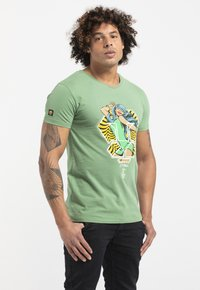 Liger - LIMITED TO 360 PIECES - BUTCHER BILLY - BEAUTY - Print T-shirt - green - 3