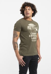 Liger - LIMITED TO 360 PIECES - ZENDER & CHAOS - CAMP CRYSTAL LAKE - Print T-shirt - green - 3
