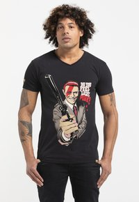 Liger - LIMITED TO 360 PIECES - BUTCHER BILLY - DIRTY HARRY-BOWIE - Print T-shirt - black - 0