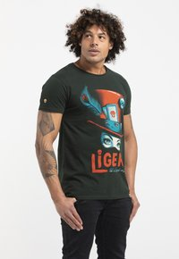 Liger - LIMITED TO 360 PIECES - MR. FEAVER - FREE WORK - Print T-shirt - bottle green - 3