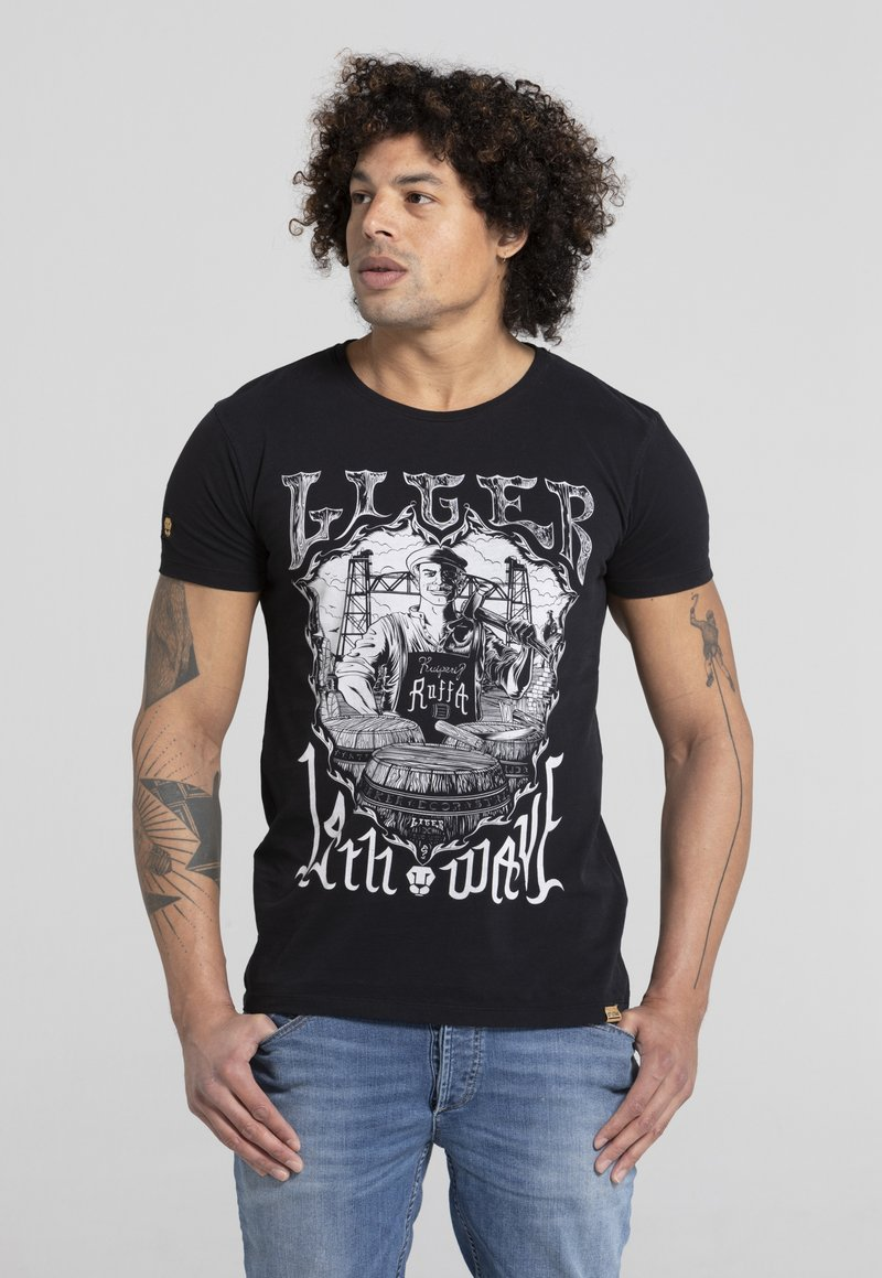 Liger - LIMITED TO 360 PIECES - ERYC WHY - ROTTERDAM - Print T-shirt - black