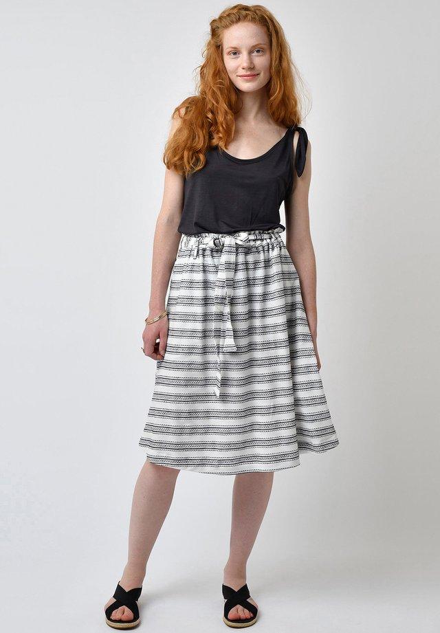 A-line skirt - ivory/black