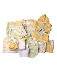 Liliput - 32-TEILIGEN SET - Baby gifts - gestreift,weiss mit motivdruck,hellgrün,gelb - 0