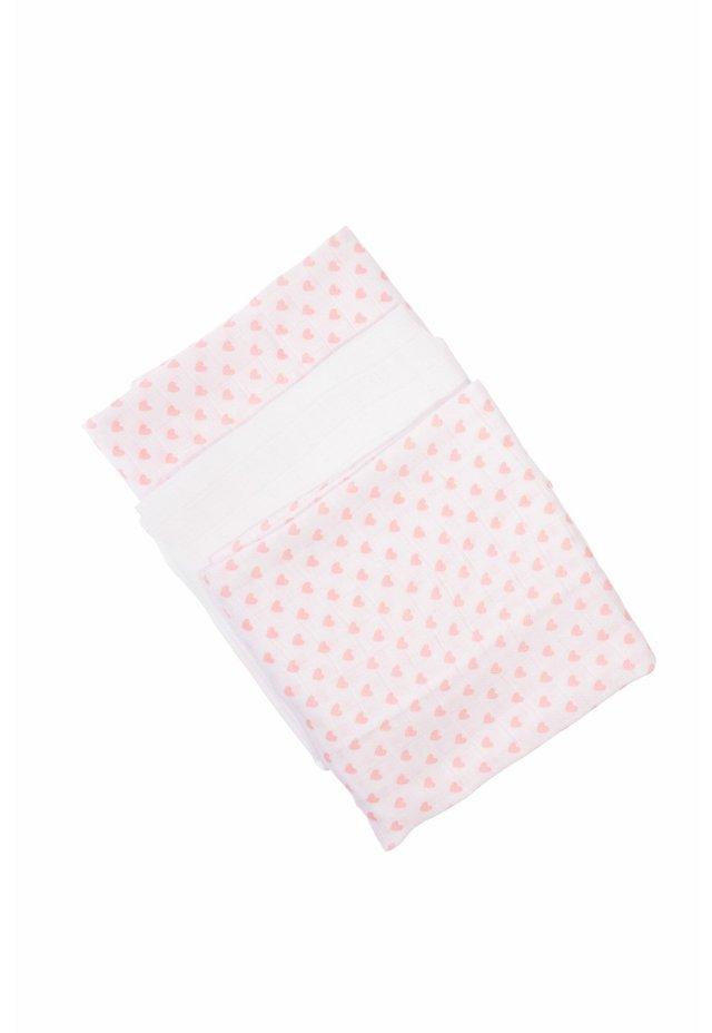 3ER-PACK MIT HERZ-ALLOVERDRUCK - Other - weiß,weiß mit rosa herzchen allover druck