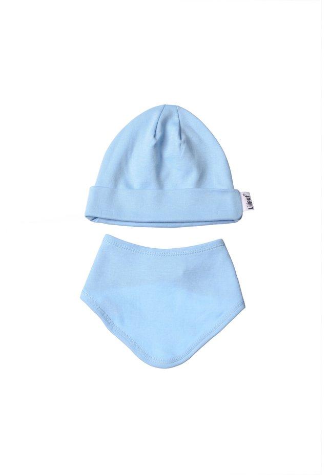 2ER-SET Mütze und  - Scarf - hellblau