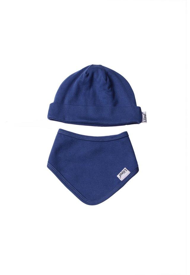 2ER-SET Mütze und  - Scarf - dunkelblau