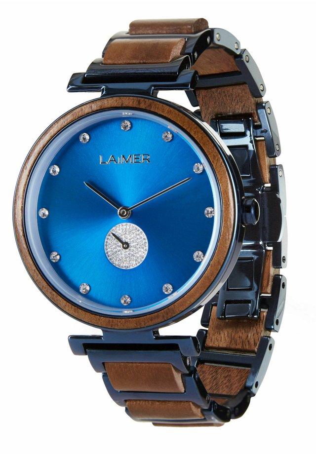 HOLZUHR MIRIAM - Watch - blue/brown