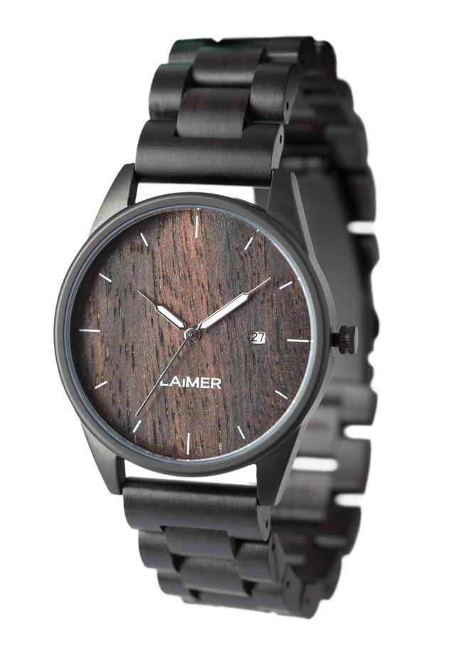 ARMBANDUHR LAIMER HOLZUHR  - Watch - black
