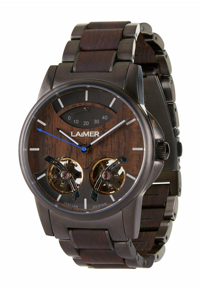 ADAM - Chronograph watch - schwarz/braun