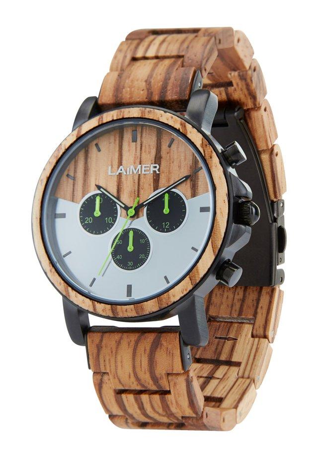 Chronograph watch - ocher