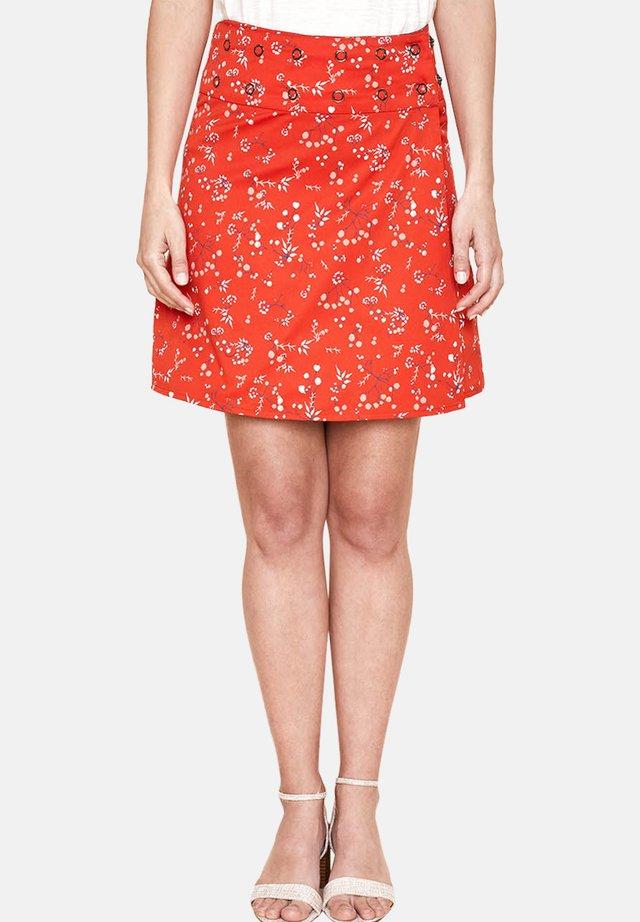 MATARAN - A-line skirt - red