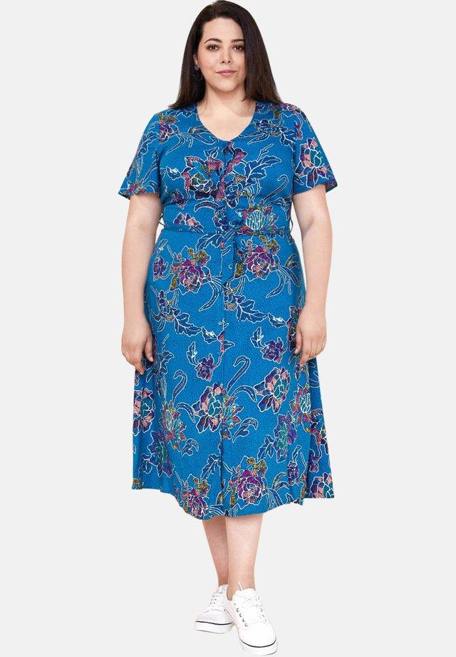 BINDI - Robe chemise - blue