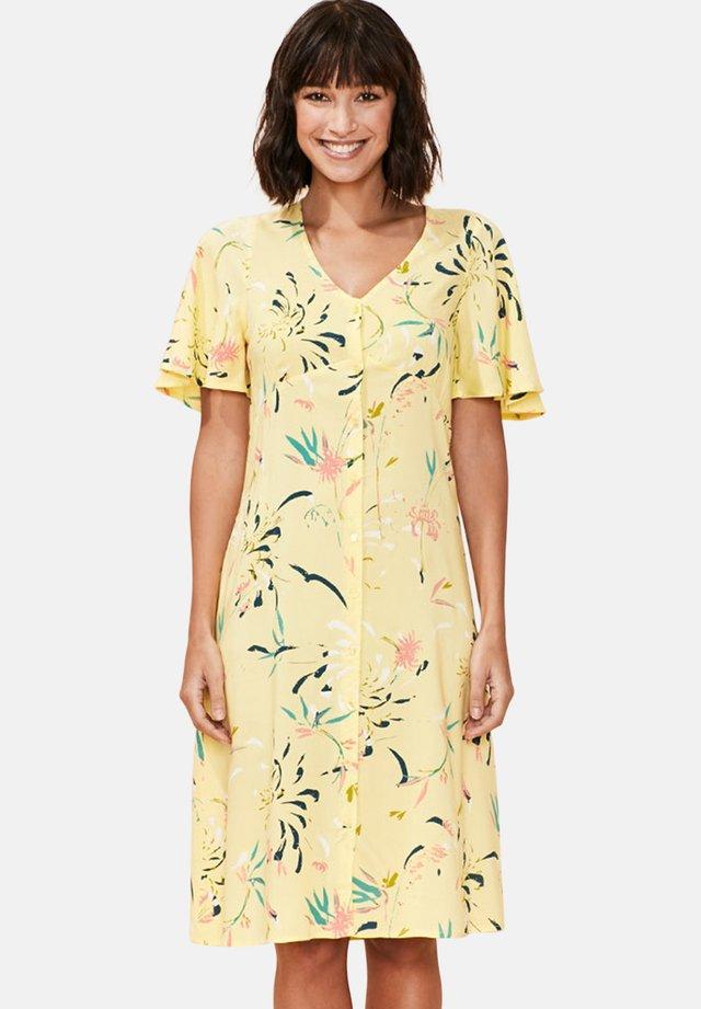 CEZA BUTTONED - Robe chemise - yellow