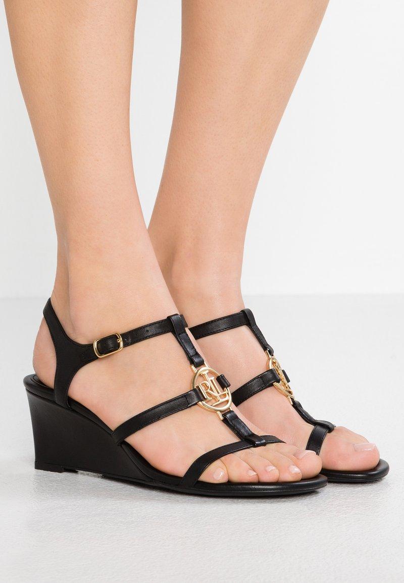 Lauren Ralph Lauren - ELINA - Wedge sandals - black